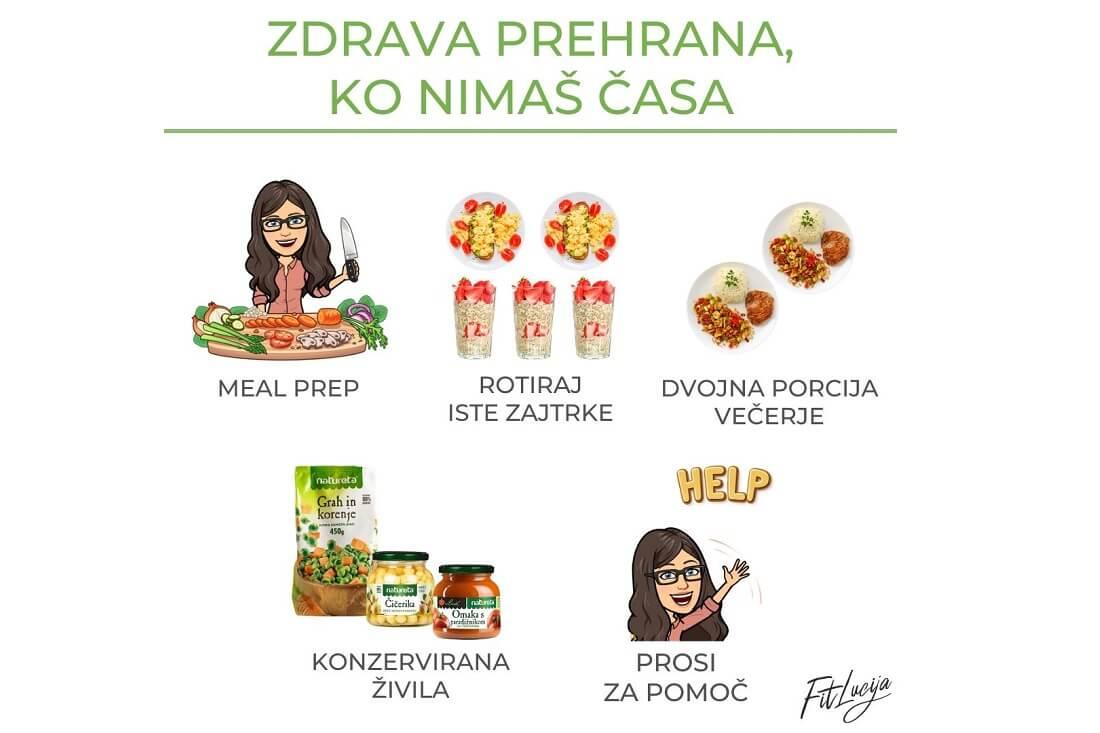 Zdrava prehrana kljub pomanjkanju časa